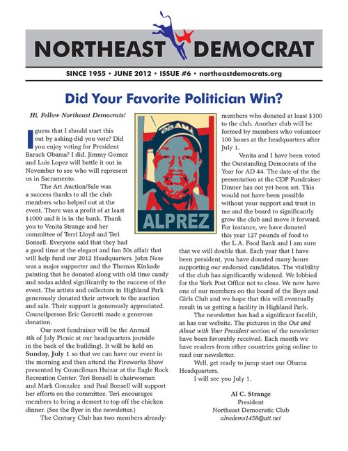 Northeast Democratic Club Newsletter